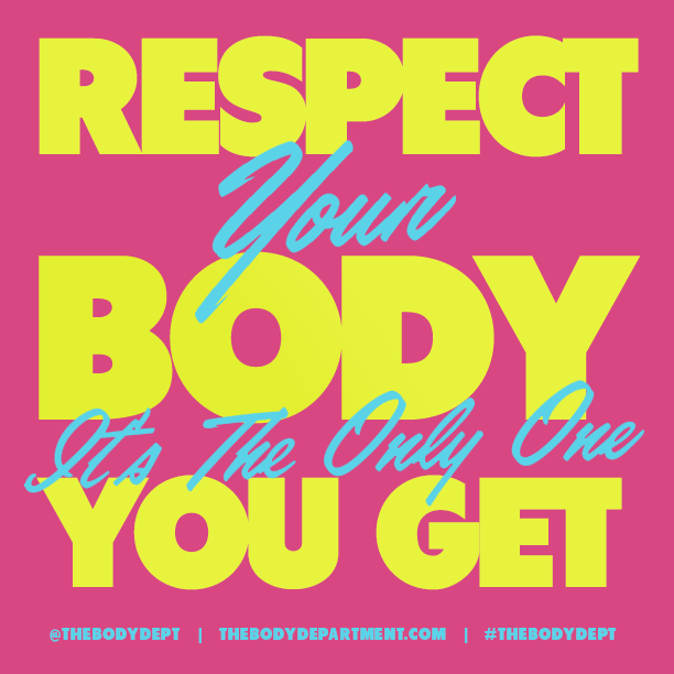 Shawn Johnson's The Body Department - Fitspiration: Respect Your Body