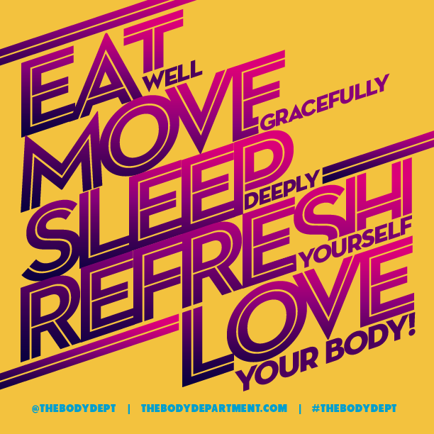 Shawn Johnson's The Body Department - Fitspiration: Eat, Move, Sleep, Refresh, LOVE!