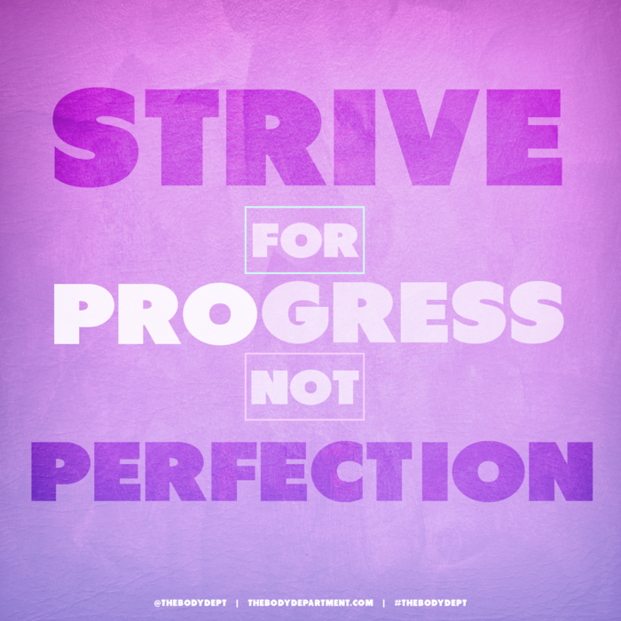 Shawn Johnson's The Body Department - Progress, Not Perfection