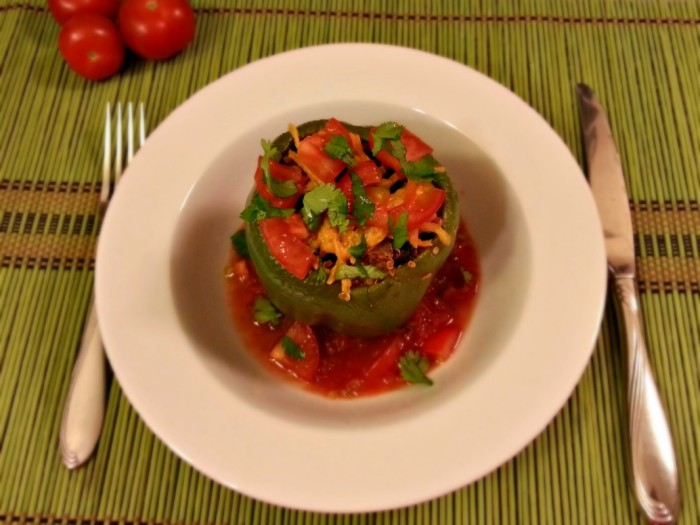 Shawn Johnson's The Body Department - Black Bean & Quinoa Stuffed Peppers