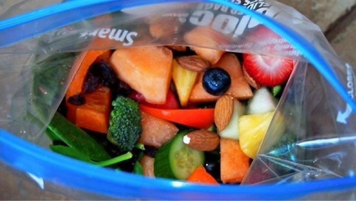 Shawn Johnson's The Body Department - On-The-Go Zip-Loc Salad!
