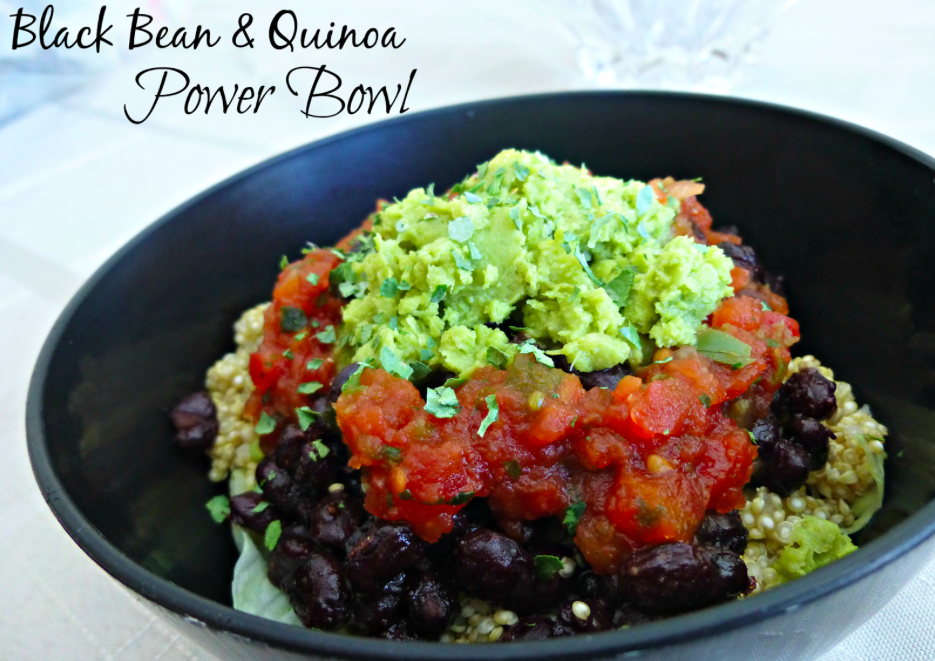 Shawn Johnson's The Body Department - Black Bean and Quinoa Power Bowl