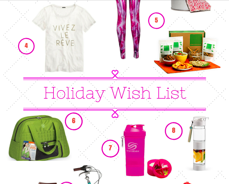 Shawn Johnson's the body department - Holiday Wish List