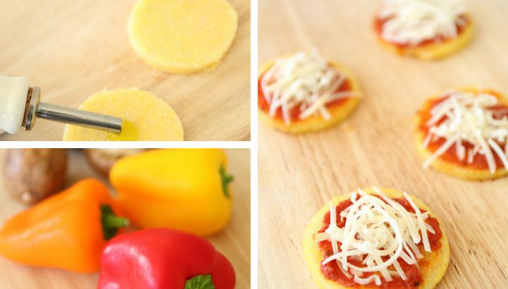 Shawn Johnson's the body department - Mini Polenta Pizza