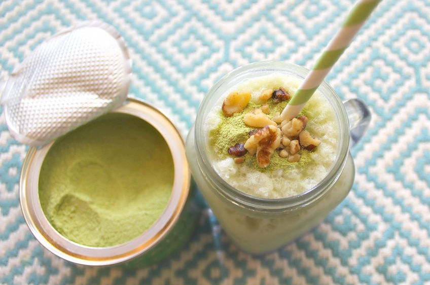 matcha green tea protein smoothie the body department-1